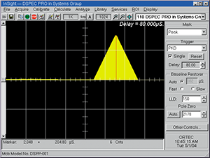 DSPEC InSight Virtual Oscilloscope Mode